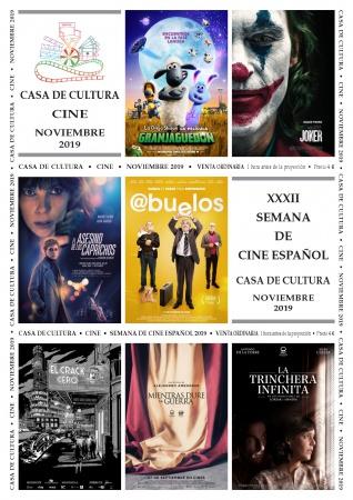 Cartelera de noviembre en la Casa de Cultura