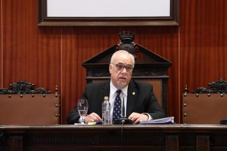 Julián Nieva en el pleno de abril de 2020