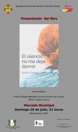 Fechas nuevas de la presentación de 'El silencio no me deja dormir'