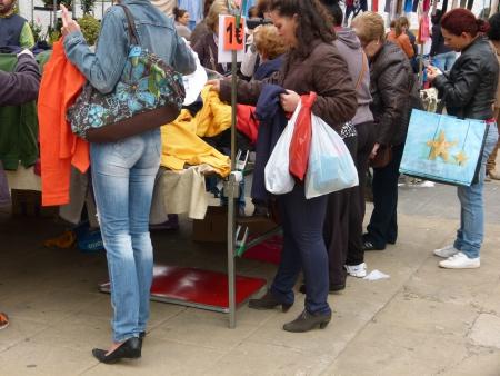 Imagen de archivo del mercadillo en los Paseos Príncipe de Asturias