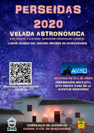 Velada astronómica (Perseidas 2020)