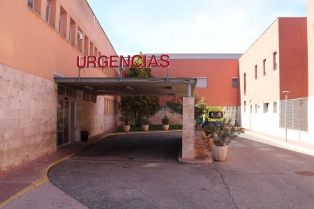Entrada de Urgencias del hospital de Manzanares