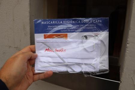Recogida de mascarillas higiénicas del Ayuntamiento de Manzanares