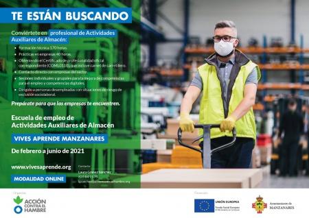 Escuela de empleo de Actividades auxiliares de almacén (Convenio Ayuntamiento-Acción Contra el Hambre)