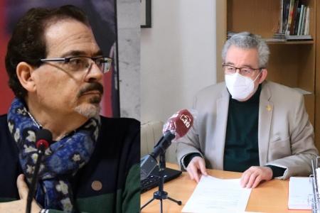 El ganador Santiago Redondo y el concejal de Cultura Candi Sevilla