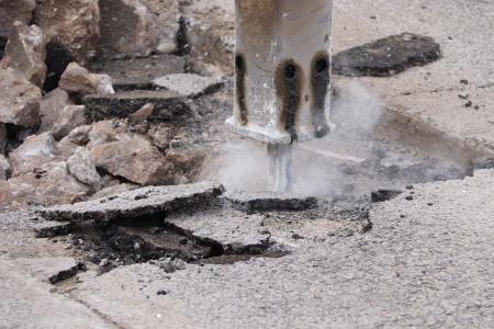Obras en una calle de Manzanares