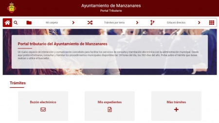 Portal tributario en la web municipal