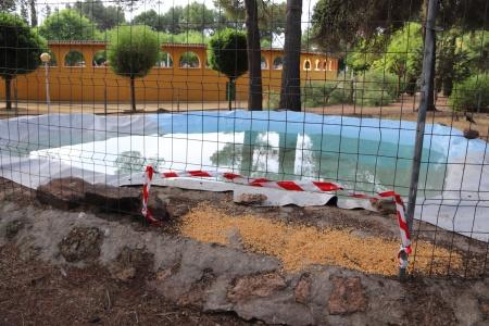 Una de las balsas habilitadas en el parque para las aves acuáticas