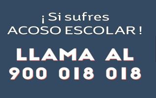 Teléfono contra Acoso Escolar. 900 018 018.