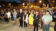 Autoridades en la eucaristía de la plaza del Gran Teatro