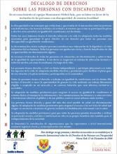 Decálogo de derechos sobre las personas con discapacidad