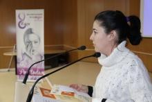 Juana Torrijos leyó su microrrelato