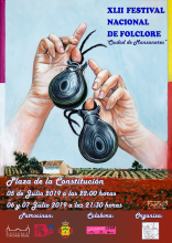 Cartel del XLII Festival Nacional de Folclore 'Ciudad de Manzanares'