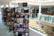 Centro de interés sobre la temática en la primera planta de la biblioteca