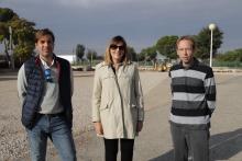 La concejala de Obras junto a los técnicos municipales en la zona de ampliación de Fercam