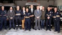 Nieva aprecia las 3.000 horas anuales de voluntariado que realiza Protección Civil