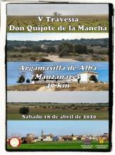 Cartel de la V Travesía 'Don Quijote de La Mancha'