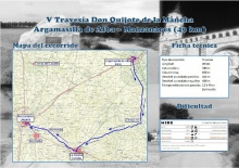Mapa de la V Travesía 'Don Quijote de La Mancha'