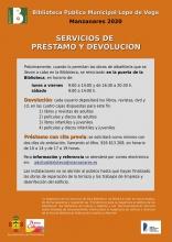 Servicios de préstamo y devolución - Biblioteca Pública Municipal 'Lope de Vega'