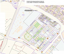 Plano de peatonalización del paseo de la Isla Verde y Víctimas del Terrorismo