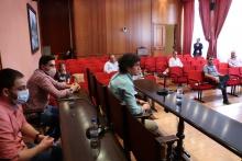 Recepción al Manzanares CF en el Ayuntamiento por el ascenso a Tercera División