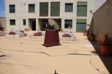 Terraza BPM 'Lope de Vega' antes de la renovación del pavimento
