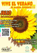 Cartel 'Vive el verano... de manera diferente'