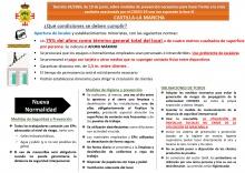 Carteles informativos sobre la nueva normalidad (Ayuntamiento de Manzanares)
