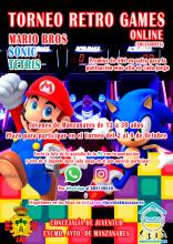 Cartel del torneo retro games online