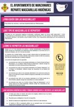 Reparto de mascarillas higiénicas - Ayuntamiento de Manzanares