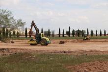 Obras de construcción de Rivulis en el Sector 5