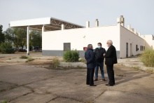 Visita de Julián Nieva y Rubén Sobrino a la estación de autobuses