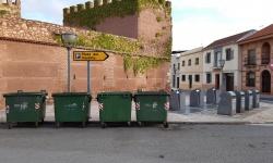 Contenedores en la calle Matadero