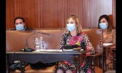 Laura Carrillo interviene en el pleno tras tomar posesión como concejala