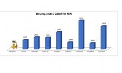 Número de desempleados (agosto 2020)