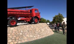 Restaurado el camión de bomberos que se integra en el nuevo concepto de avenida de la circunvalación