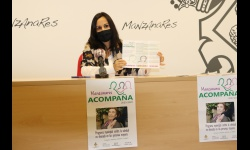 Prado Zúñiga en la presentación del programa contra la soledad