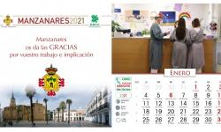 Portada y primer mes del calendario de 2021