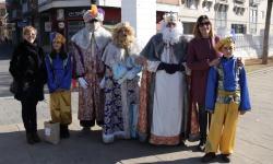 Los Reyes Magos en su visita a Manzanares durante la pasada Navidad