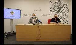 Juan López de Pablo y Miguel Ángel Rodríguez en rueda de prensa