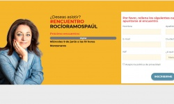 Imagen de la web de inscripciones en el encuentro digital