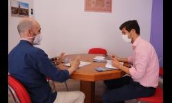 Reunión con el presidente de la Asociación Empresarial de Manzanares