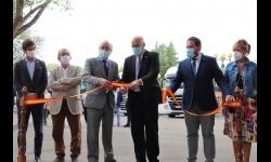 Inauguración de la feria a cargo del alcalde y del delegado de Hacienda y Administraciones Públicas