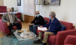 Reunión del alcalde con el presidente y el director de la EC