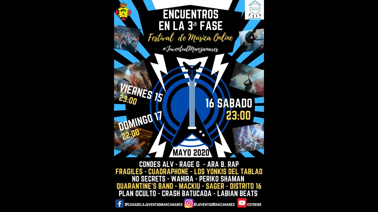 Cartel del festival de música online 'Encuentros en la 3ª Fase'