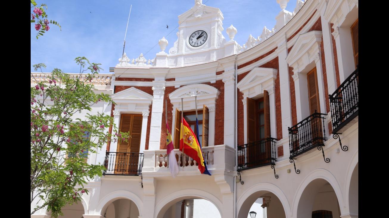 Banderas a media asta en Manzanares