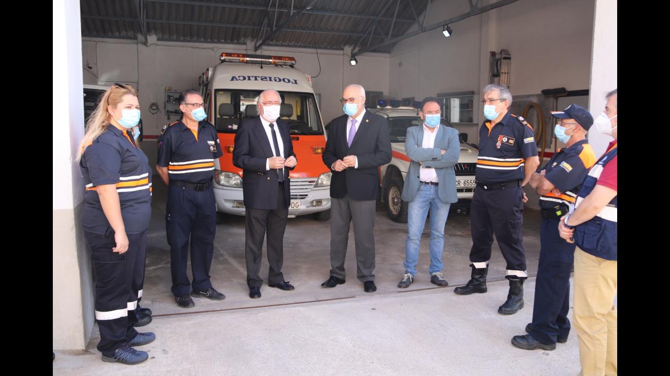 El Gobierno Regional y el Ayuntamiento de Manzanares reconocen la labor de Protección Civil