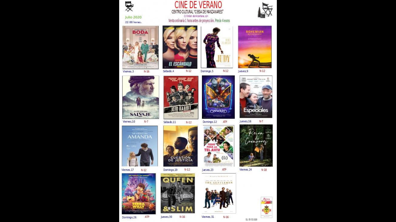 Cartelera del cine de verano semana del 23 al 26 de julio