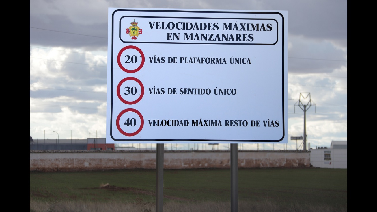 Velocidades máximas en Manzanares