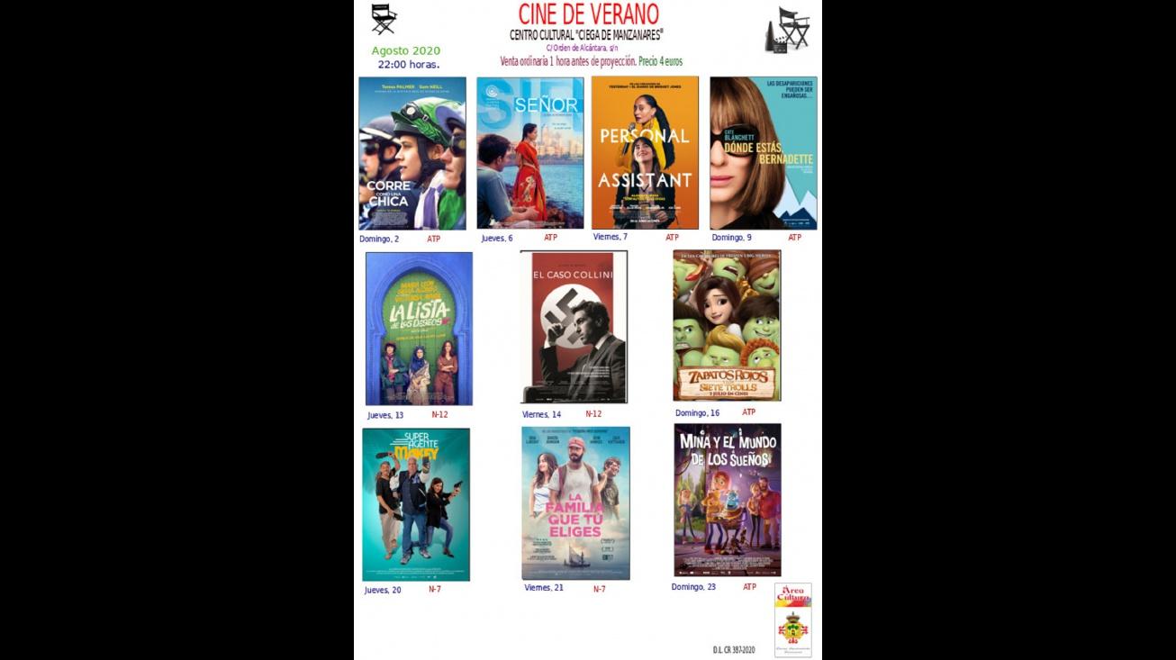 Últimas películas del cine de verano de Manzanares